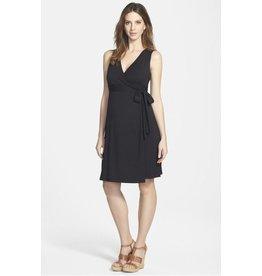 Ingrid & Isabel Maternity Sleeveless Wrap Dress - Jet Black