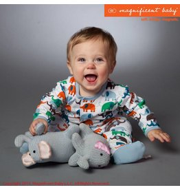 Magnificent Baby Magnetic Footie - Blue Elephant