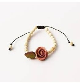 Calamarie Calamarie Orange Peel & Seed Bracelet - Natural/Soft Pink Rose