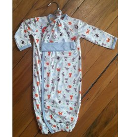 Magnificent Baby Magnetic Gown - Cotton Modal - Woodland Origami
