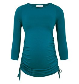 JoJo Maman Bebe Maternity Gathered Maternity Top - Jade