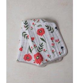 Little Unicorn Cotton Muslin Burp Cloth - Summer Poppy
