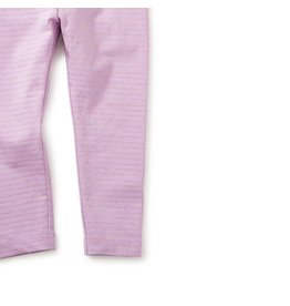 Tea Collection Tea Baby Legging - Lilac Sparkle Stripe