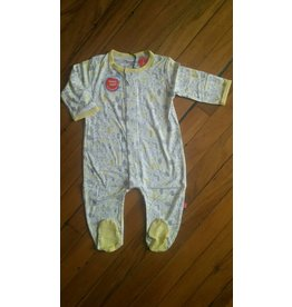 Magnificent Baby Magnetic Footie - Cotton Modal - Into the Woods (Yellow/Neutral)