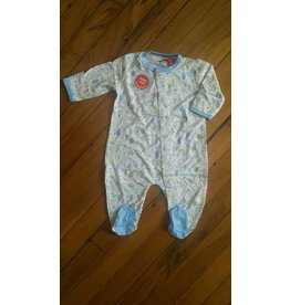 Magnificent Baby Magnetic Footie - Cotton Modal - Into the Woods (Blue)
