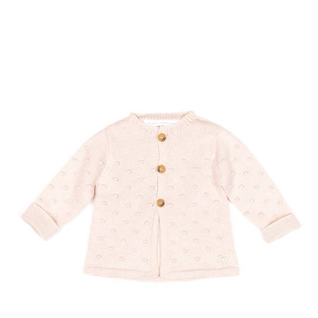 Message in the Bottle Pinklight Knit Cardigan