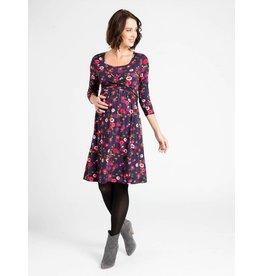 JoJo Maman Bebe Maternity Autumn Floral Tie - Waist Dress