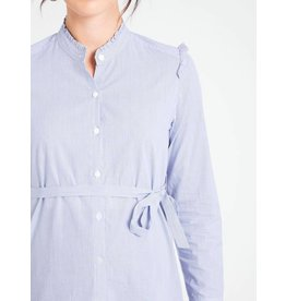 JoJo Maman Bebe Maternity Blue Pinstripe Blouse