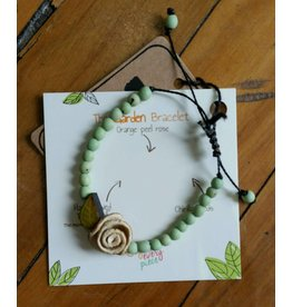 Calamarie Calamarie Orange Peel & Seed Bracelet - Mint/Ivory Rose
