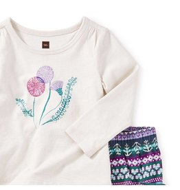 Tea Collection Thistle Baby Outfit