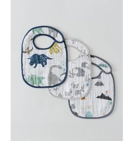 Little Unicorn Classic Muslin Bib 3 Pack - Dino