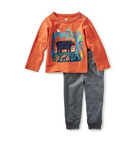 Tea Collection Bear Tale Baby Graphic Set