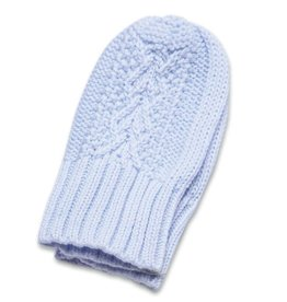 Angel Dear Cable Knit MIttens (0-24M) - Blue
