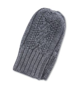 Angel Dear Cable Knit MIttens (0-24M) - Grey
