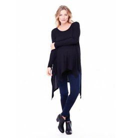 Ingrid & Isabel Maternity Handkerchief Tunic - Black