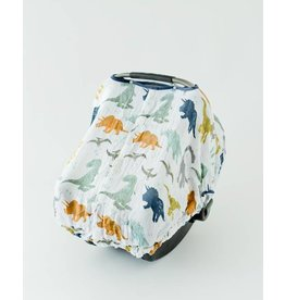 Little Unicorn Muslin Car Seat Canopy - Dino