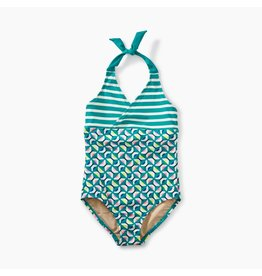 Tea Collection Halter 1-Piece Bathing Suit - Geo Print