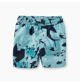 Tea Collection Baby Swim Trunks - Swarming Sharks