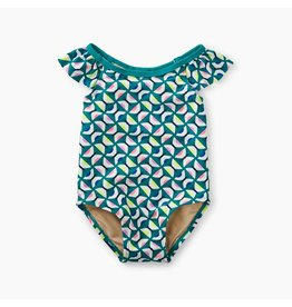 Tea Collection One-Piece Baby Bathing Suit - Geo Print