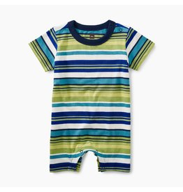 Tea Collection Mulit-Stripe Romper- Peridot