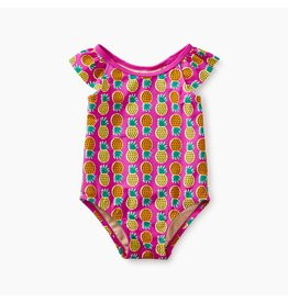 Tea Collection One-Piece Bathing Suit - Tropical Pineapples