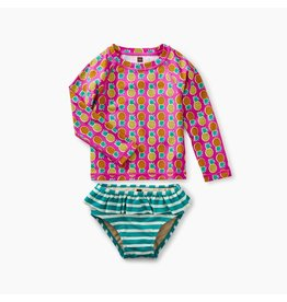 Tea Collection Baby Rash Guard Set - Tropical Pineapples