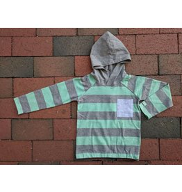 Bellybutton Organic Cotton Wide-Stripe Pull-On Hoodie