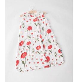 Little Unicorn Muslin Sleep Bag - Summer Poppy