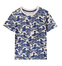 Art & Eden David Tee - Blue Wave Print