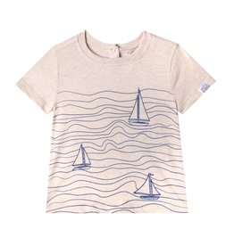 Art & Eden Jacob Baby Tee - Blue Wave Print