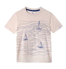 Art & Eden Jacob Tee - Blue Wave Print