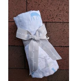 Angel Dear Bamboo Swaddle - Giraffes With Kites (Blues)