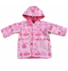 Magnificent Baby Magnetic Me Raincoat - Hippo Friends (Pink)