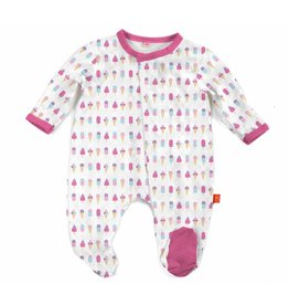 Magnificent Baby Magnetic Footie - Cotton Modal - Summer Ice Cream