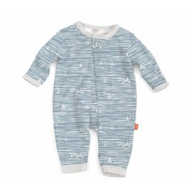 Magnificent Baby Magnetic Coverall - Cotton Modal - Seeing Sailboats