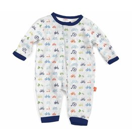 Magnificent Baby Magnetic Modal Coverall - Bicycles