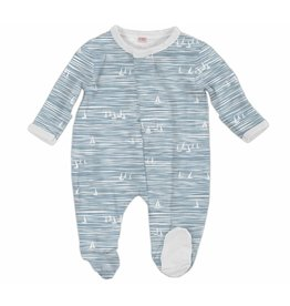Magnificent Baby Magnetic Footie - Cotton Modal - Seeing Sailboats