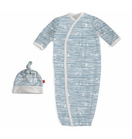 Magnificent Baby Magnetic Gown - Cotton Modal - Seeing Sailboats