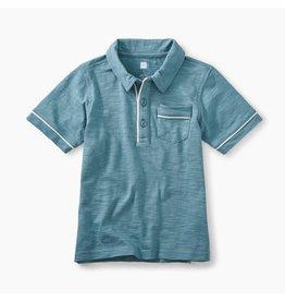 Tea Collection Piped Polo Shirt-Glacier