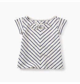 Tea Collection Classic Stripe Knotted Top - Twilight