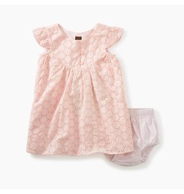 Tea Collection Eyelet Baby Dress w/Bloomer-Pink Gloss