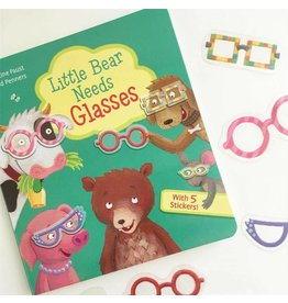 Usborne Little Bear Needs Glasses w/Peel & Stick Glasses