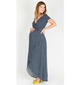 NOM Maternity Delilah During & After Maxi-Navy Dot