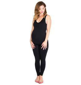NOM Maternity Seamless Reversible Tank - Black