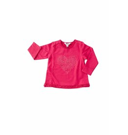Kanz Flannel Lined Ruffle Top - Rose