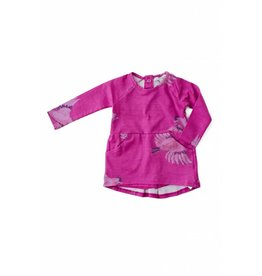 Art & Eden Fuschia Sparrow Baby T-Shirt Dress