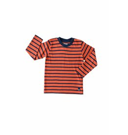 Kanz Classic Stripe Long-Sleeve Tee - Deep Orange/Navy
