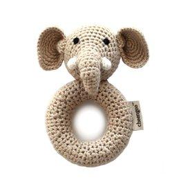 Cheengoo Organic Bamboo Rattle - Elephant