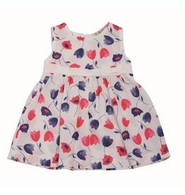E.M.C. Bright Poppy Skirted Dress