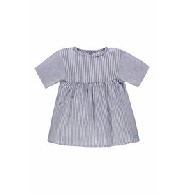 Bellybutton Organic Cotton Linen Tunic - Chambray Stripe